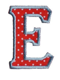 Iron-on letter patch craft applique E red white 5cm for jeans clothing fabric names crafts to iron on clothes room nursery boy girl children child kids toddler gift baby birth christening baptism birthday personalized diy hobby to per * Check out this great item.