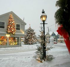 Kennebunkport in southern Maine has been a popular seaside destination for a long time. The sandy beaches are a major draw in the summer, but this town is seaworthy year . Read moreQuintessential Maine at Cabot Cove Cottages in Kennebunkport Christmas Town, Coastal Christmas, Christmas Scenes, Little Christmas, Winter Christmas, All Things Christmas, Christmas Photos, Christmas Lights, Christmas Decorations