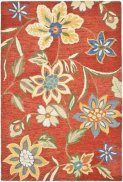 Safavieh Blossom Collection Handmade Rust and Multi Hand Spun Wool Area Rug, by