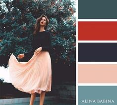 Looooooooooove this skirt! Ive been looking for one like this for years! cute summer outfits 2016 for women Colour Pallette, Color Combos, Color Schemes, Fashion Colours, Colorful Fashion, Color Balance, Cute Summer Outfits, Color Theory, Inspired Outfits