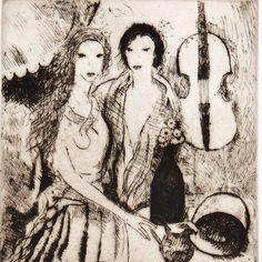 Marie Laurencin eau-forte originale signée par MarieArtCollection