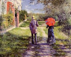 Gustave Caillebotte ~ The Rising Road, 1881 ~ (French: 1848-1894)