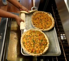 Crawfish pie from In Judy's Kitchen @ nola.com---I used frozen pie crusts and let them sit out for about an hour before using them. I used the second pie crust as a topper. 1/4 teaspoon of cayenne was not enough----next time I'll up it to 1/2 teaspoon. And I'll up the salt to at least 2 teaspoons.