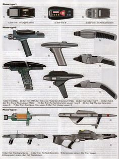 Star Trek - Phasers and Weapons Star Trek Phaser, Star Trek Starships, Star Wars, Star Trek Tos, Science Fiction, Cyberpunk, Stargate, Vaisseau Star Trek, Deep Space Nine