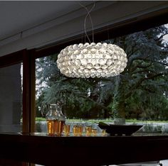 Modern Bedroom House 65cm Foscarini Caboche Ball Pendant Lamp Ceiling Light EMS
