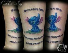 stitch ohana tattoo troy slack tatuajes tatuaje ohana y ideas de tatuajes. Black Bedroom Furniture Sets. Home Design Ideas