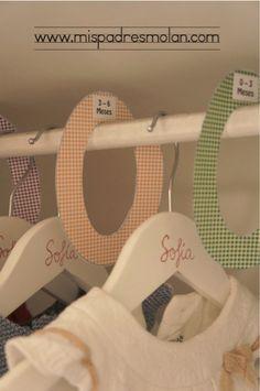 DIY Separadores armario #diy #armario #bebe #separadores