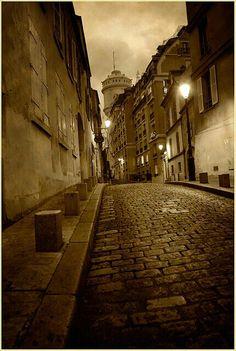 -At night..