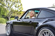 The Porsche 911 is a truly a race car you can drive on the street. It's distinctive Porsche styling is backed up by incredible race car performance. Black Porsche, Porsche 930, Porsche Cars, Auto Girls, Car Girls, Porsche Models, Ford Fairlane, 911 Turbo, Pin Up