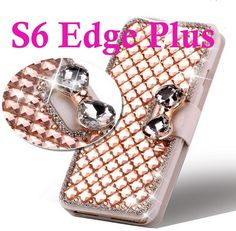 Bling Galaxy S6 Edge Plus Case Crystal Diamond PU Leather Case  for Samsung Galaxy S6 Edge Plus NOTE 3 4 5 Flip Cover