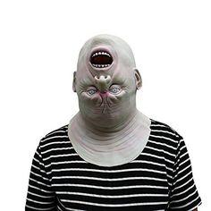 Upside Down Rotation Oben Unten Maske mask aus sehr hochwertigen Latex Material mit Öffnungen an Augen Halloween Karneval Fasching Kostüm Verkleidung für Erwachsene Männer und Frauen Damen Herren gruselig Grusel Zombie Monster Dämon Horror Party