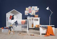 Navy & Orange boys room by Jollein| Babyuitzetonline.nl