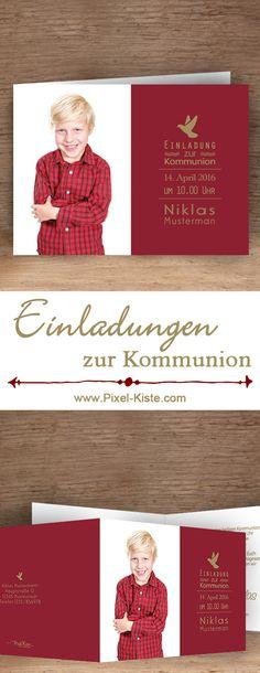 Einladungskarten Für Die Kommunion (oder Konfirmation) Drucken Lassen Ab  0,60 Euro #