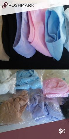Nylon Socks NWT....4-pack no show nylon socks/peds. Great to use with slip on shoes,boots,tennis shoes,or just wear around the house! Comes in beautiful pastel and traditional colors....GET THEM WHILE THEY'RE HOT!! Raylans Accessories Hosiery & Socks