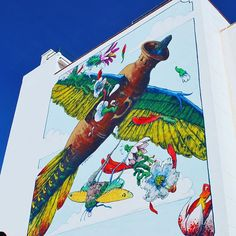 #TheFlyingAmphora by #Liqen, considered one of the best #graffiti #artists in the world. This #mural is on Cruz Verde street in #puertodelacruz, #tenerife. #art #artoftheday #streetart #losmurales #picoftheday #photo #travel #travelgram #travelphotography