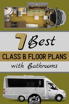 If you're in the market for a Class B RV then you gotta check this out! This article reviews 7 of the best Class B RVs with a bathroom! Each review includes campervan specs, floor plan and video tour. Hit the road, the mountains or the beach in this easy to drive RV. #rvblogger #campervan #classb #classbrv #rvreview #rvtour #rvbathroom #classbbathroom #campervanbathroom #rvtips #rvtravel Class B Camper Van, Camper Van Life, Build A Camper Van, Class B Rv, Van Conversion Floor Plans, Camper Van Conversion Diy, Best Small Rv, Motorhome Interior, Mini Motorhome