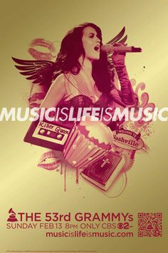 Katy Perry 'Music Is Life Is Music' 53rd GRAMMY Awards Campaign