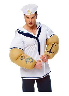Sailor Shirt With Big Arms Mens Costume STD-XL
