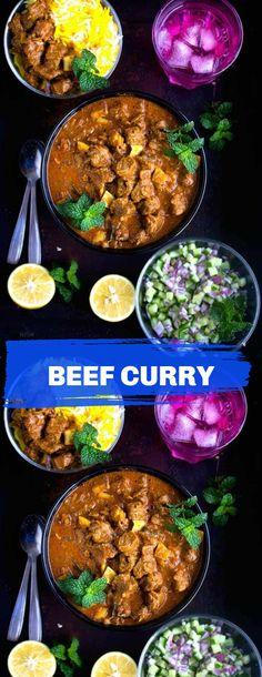 Masala Sauce, Garam Masala, Curry Recipes, Beef Recipes, Beef Curry, Kitchen Recipes, Spicy, Good Food, Favorite Recipes