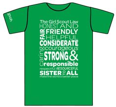 Custom Girl Scout Troop Shirts Full Color Printed By Domesticspaz