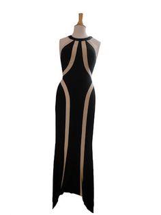 Elegant Halter Evening Gown