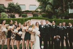 Wedding Finery in Pink and Black: La Valencia Wedding, La Jolla, CA