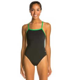 b8c56297ef8a8 Dolfin All Poly Female Varsity Solid String Back Swimsuit at SwimOutlet.com  - Free Shipping. Swim Shop