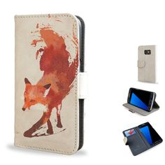 A stylish smartphone case featuring the stunning masterpiece by Robert Farkas, Vulpes. Stand out of the crowd with this Artist Designed leather style flip case, especially fitted for the Samsung Galaxy S7/S7 Edge.  Case features: • Contemporary & unique design printed using vibrant and dynamic colours • Made using high quality vegan leather • Inside features 3 credit card slots and a pocket for storing money/paper • Button strap closure for added security • All cutouts for camera, volume…