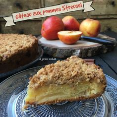 Gâteau aux pommes streusel Banana Bread, French Toast, Pie, Breakfast, Food, Grands Parents, Brownies, Facebook, Instagram