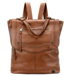 This 5-star soft pebble leather backpack features signature craftsmanship and classic textures. The tan hue is accented with brass tone hardware and whipstitch detail, adding a little luxe to its simplicity. With back straps and a hand strap, our Tahoe backpack can easily be converted from backpack to hand bag depending how busy your day is!