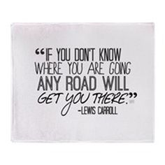 Any Road Lewis Carroll Throw Blanket