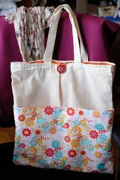 Spring tote- first tote ever.