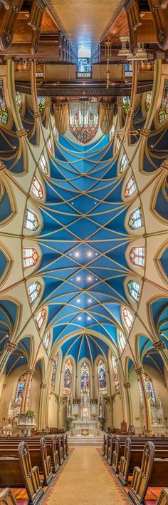 Vertical Panoramas of New York Churches by Richard Silver Inspired By Pope's Visit | Bored Panda