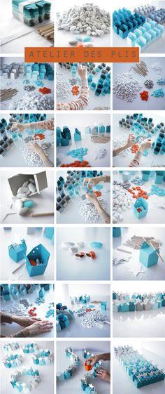 """Favor boxes  From the """"atelier des plis"""""""