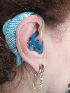 Hearing Aid: Serious Bling: Hearing Aid Accessories-- so cool! I want a hearing aid now! Hearing Impaired, Hearing Aids, Deaf People, Deaf Culture, Child Life, Sign Language, Bling, Accessories, Cochlear Implants
