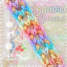 Rainbow Loom Bracelets Easy, Loom Band Bracelets, Rainbow Loom Tutorials, Rainbow Loom Patterns, Rainbow Loom Creations, Rainbow Loom Bands, Rainbow Loom Charms, Rubber Band Bracelet, Pandora Bracelets