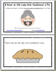 *Lil Country Kindergarten*: Update: I Know an Old Lady Who Swallowed a Pie Emergent Reader