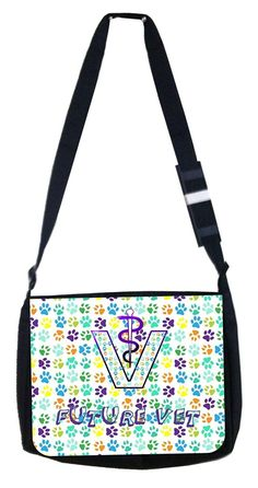 Future vet Rosie Parker Inc. TM Medium Sized Laptop Messenger Bag 11.75' x 15.5' -- Continue to the product at the image link. (This is an Amazon Affiliate link and I receive a commission for the sales)