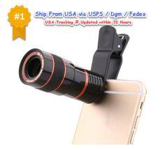 8X-Zoom-Optical-Lens-Telescope-Camera-Universal-Phone-Mobile-HD-Clip-Kit-Sports