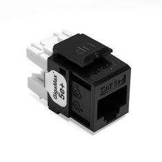 The #Leviton 5G110RE5 is from the line of data A/V connectors. This model comes in black color. Leviton's GigaMax 5e+ CAT 5e connector is intended to be used wit...