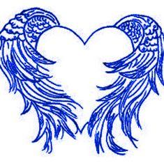 Heart with Angel Wings Tattoo | Blue Heart - Blue Wings by DarkAngel15414 on deviantART