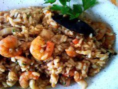 Questo piatto di riso ai gamberetti è una vera delizia!
