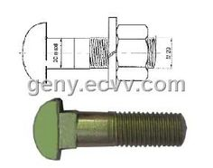 Hs26 clip bolts (Hs26) - China clamp bolts frog bolt switch bolts rail joint bars rail clam