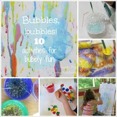 Bubbles, bubbles, bubbles!  We are sharing 10 ultimate bubbly fun activities!
