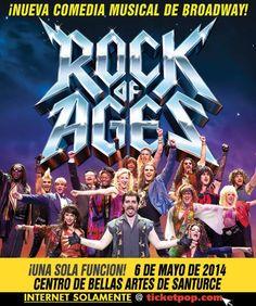 ROCK OF AGES - El Musical de Broadway el 6 de mayo en el Centro de Bellas Artes, Santurce. Una historia de amor contada a través de grandes éxitos de íconos del ROCK como: JOURNEY, STYX, REO Speedwagon, FOREIGNER, PAT BENATAR, WHITESNAKE, y muchos otros.
