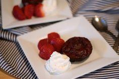Gluten, sugar, dairy free - delicious molten lava cakes!