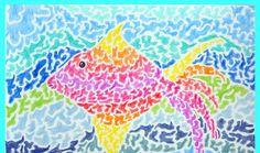 Benodigdheden:  wit papier op A4 formaat kleurpotloden gekleurd papier voor achtergrond Tropische vissen zijn vissen met vaak mooie felle kl...