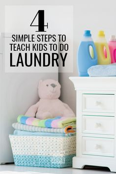 Manage your family's laundry by teaching your children how to do it. Learn everything you need to know about laundry and kids in this easy beginner guide. Sorting Clothes, Laundry Sorting, Home Office Organization, Organization Hacks, Organization Ideas, Declutter Your Home, Organizing Your Home, How To Fold Towels, Make Your Own Clothes