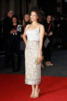 Gugu Mbatha-Raw in Brock Collection - 'A United Kingdom' - Opening Night Gala - 60th BFI London Film Festival