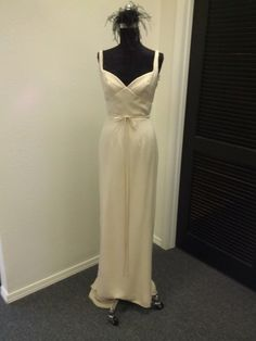 Old Hollywood Silk Crepe Wedding Dress by BellaVittoria on Etsy, $925.00